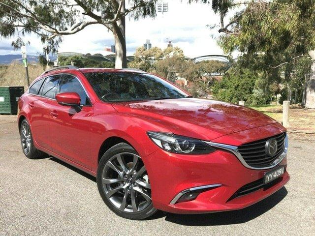 Used Mazda 6 GL1031 Atenza SKYACTIV-Drive Adelaide, 2017 Mazda 6 GL1031 Atenza SKYACTIV-Drive Red 6 Speed Sports Automatic Wagon