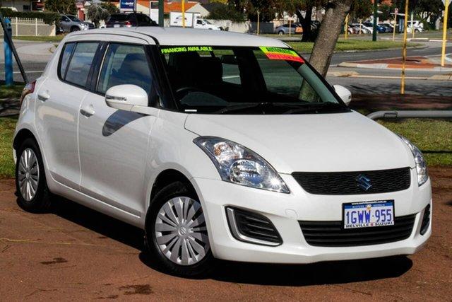 Used Suzuki Swift FZ MY15 GL Attadale, 2016 Suzuki Swift FZ MY15 GL White 4 Speed Automatic Hatchback