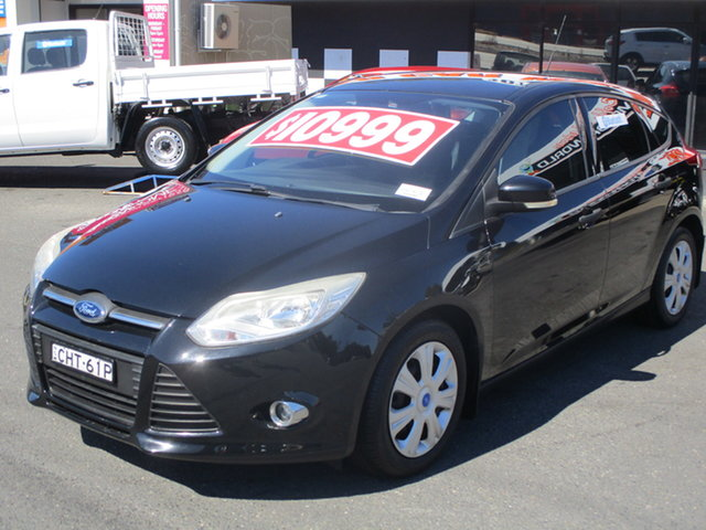 Used Ford Focus LW Ambiente Coffs Harbour, 2012 Ford Focus LW Ambiente Black 6 Speed Automatic Hatchback