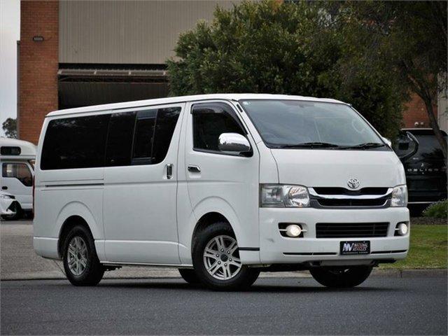 Used Toyota HiAce Super GL Braeside, 2009 Toyota HiAce KDH201V Super GL White 4 Speed Automatic Van