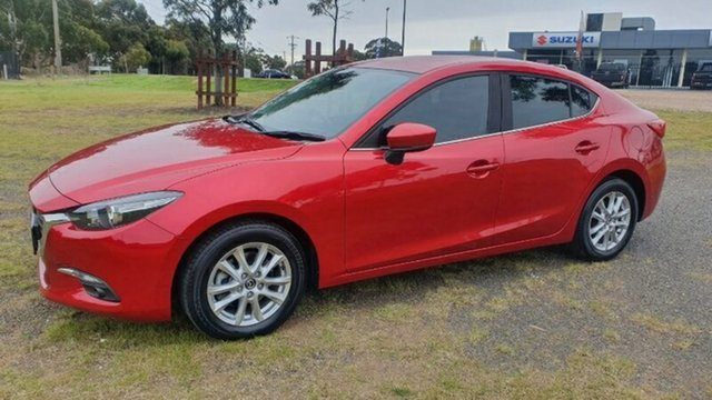 Used Mazda 3 BN5278 Maxx SKYACTIV-Drive Melton, 2017 Mazda 3 BN5278 Maxx SKYACTIV-Drive Red 6 Speed Sports Automatic Sedan