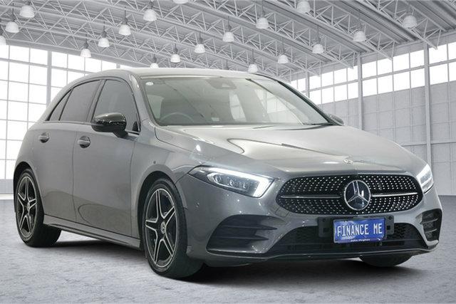 Used Mercedes-Benz A-Class W177 A180 DCT Victoria Park, 2019 Mercedes-Benz A-Class W177 A180 DCT Grey 7 Speed Sports Automatic Dual Clutch Hatchback