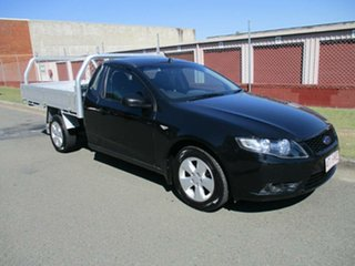 2008 Ford Falcon FG Super Cab Black 5 Speed Automatic Cab Chassis.