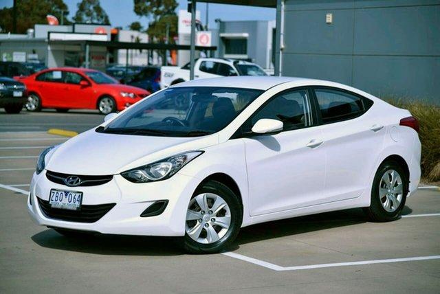 Used Hyundai Elantra MD Active Pakenham, 2012 Hyundai Elantra MD Active White 6 Speed Sports Automatic Sedan