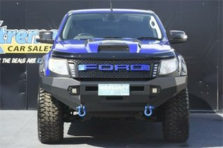 2012 Ford Ranger PX XLT Double Cab Blue 6 Speed Manual Utility.