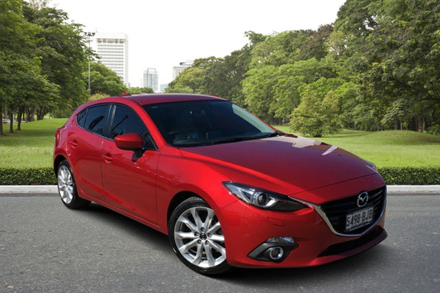 Used Mazda 3 BM5438 SP25 SKYACTIV-Drive GT Paradise, 2015 Mazda 3 BM5438 SP25 SKYACTIV-Drive GT Red 6 Speed Sports Automatic Hatchback
