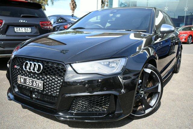 Used Audi RS 3 8V Sportback Quattro Brookvale, 2015 Audi RS 3 8V Sportback Quattro Black 7 Speed Auto Dual Clutch Hatchback