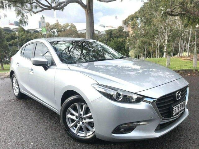 Used Mazda 3 BN5278 Maxx SKYACTIV-Drive Sport Adelaide, 2018 Mazda 3 BN5278 Maxx SKYACTIV-Drive Sport Silver 6 Speed Sports Automatic Sedan