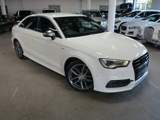2014 Audi A3 8V MY15 Ambition S Tronic White 7 Speed Sports Automatic Dual Clutch Sedan.