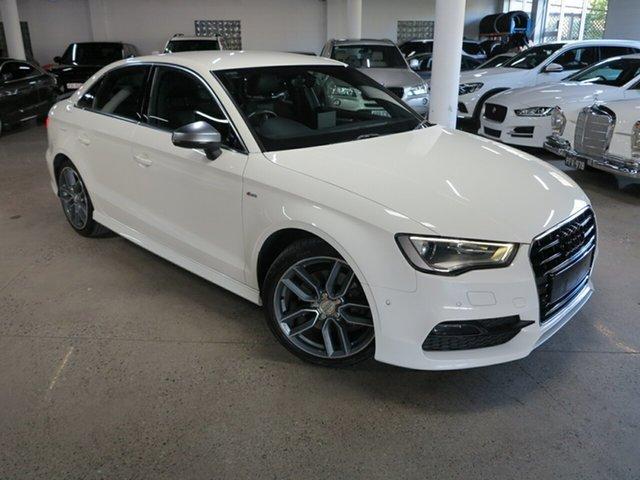 Used Audi A3 8V MY15 Ambition S Tronic Albion, 2014 Audi A3 8V MY15 Ambition S Tronic White 7 Speed Sports Automatic Dual Clutch Sedan