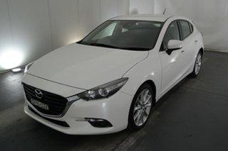 2017 Mazda 3 BN5438 SP25 SKYACTIV-Drive White 6 Speed Sports Automatic Hatchback.