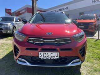 2020 Kia Stonic YB MY21 GT-Line DCT FWD Signal Red & Aurora Black 7 Speed Manual Wagon.
