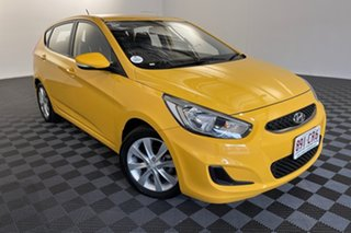 2019 Hyundai Accent RB6 MY19 Sport Yellow 6 speed Manual Hatchback.