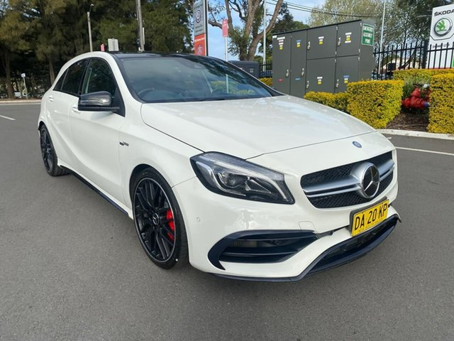 Used Mercedes-Benz A-Class W176 807MY A45 AMG SPEEDSHIFT DCT 4MATIC Botany, 2016 Mercedes-Benz A-Class W176 807MY A45 AMG SPEEDSHIFT DCT 4MATIC White 7 Speed