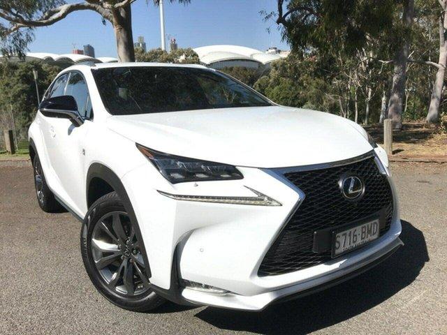 Used Lexus NX AGZ15R NX200t AWD F Sport Adelaide, 2016 Lexus NX AGZ15R NX200t AWD F Sport White 6 Speed Sports Automatic Wagon