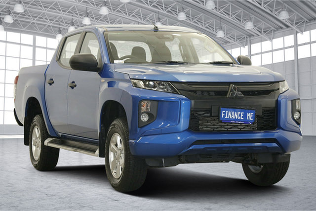 Used Mitsubishi Triton MR MY19 GLX+ Double Cab Victoria Park, 2019 Mitsubishi Triton MR MY19 GLX+ Double Cab Blue 6 Speed Manual Utility