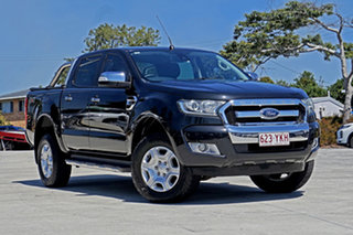 2015 Ford Ranger PX MkII XLT Double Cab Black Mica 6 Speed Manual Utility.