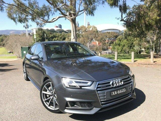 Used Audi A4 B9 8W MY18 S Line S Tronic Quattro Adelaide, 2017 Audi A4 B9 8W MY18 S Line S Tronic Quattro Grey 7 Speed Sports Automatic Dual Clutch Sedan