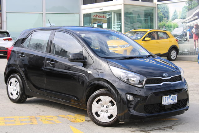 Demo Kia Picanto JA MY21 S Ferntree Gully, 2021 Kia Picanto JA MY21 S Aurora Black 4 Speed Automatic Hatchback