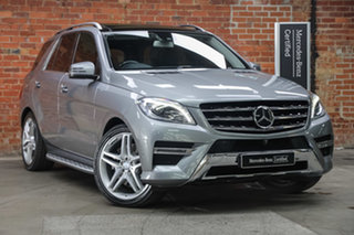 2013 Mercedes-Benz M-Class W166 ML500 7G-Tronic + Silver 7 Speed Sports Automatic Wagon.
