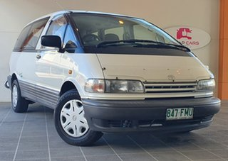 1999 Toyota Tarago TCR10R Getaway II White 5 Speed Manual Wagon.