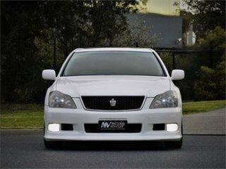 2006 Toyota Crown GRS184 Athlete White 6 Speed Automatic Sedan.