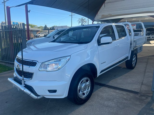 Used Holden Colorado RG MY15 LS (4x2) Toowoomba, 2014 Holden Colorado RG MY15 LS (4x2) White 6 Speed Automatic Crew Cab Chassis