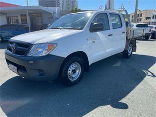 2007 Toyota Hilux TGN16R 07 Upgrade Workmate White 5 Speed Manual Dual Cab Pick-up.