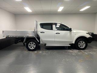 2016 Mitsubishi Triton MQ MY17 GLX Double Cab White 6 Speed Manual Utility