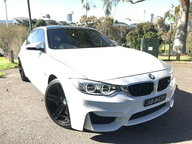 Used BMW M3 F80 M-DCT Adelaide, 2015 BMW M3 F80 M-DCT White 7 Speed Sports Automatic Dual Clutch Sedan