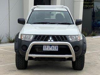 2009 Mitsubishi Triton ML MY09 GLX Double Cab White 5 Speed Manual Utility.