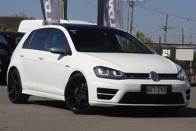 Used Volkswagen Golf VII MY17 R DSG 4MOTION Rocklea, 2016 Volkswagen Golf VII MY17 R DSG 4MOTION Pure White 6 Speed Sports Automatic Dual Clutch