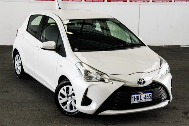 Pre-Owned Toyota Yaris NCP130R Ascent Myaree, 2020 Toyota Yaris NCP130R Ascent Crystal Pearl 4 Speed Automatic Hatchback