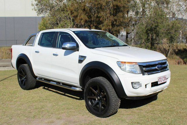Used Ford Ranger PX XLT Double Cab Ormeau, 2013 Ford Ranger PX XLT Double Cab White 6 Speed Manual Utility