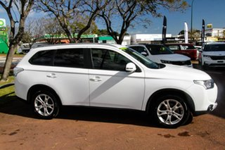 2015 Mitsubishi Outlander ZJ MY14.5 LS 2WD White 6 Speed Constant Variable Wagon