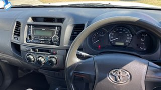 2011 Toyota Hilux TGN16R MY11 Upgrade Workmate White 5 Speed Manual Cab Chassis