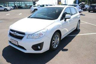 2014 Subaru Impreza G4 MY14 2.0i Lineartronic AWD Satin White 6 Speed Constant Variable Hatchback.