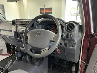 2011 Toyota Landcruiser VDJ79R MY10 GXL Maroon 5 Speed Manual Cab Chassis