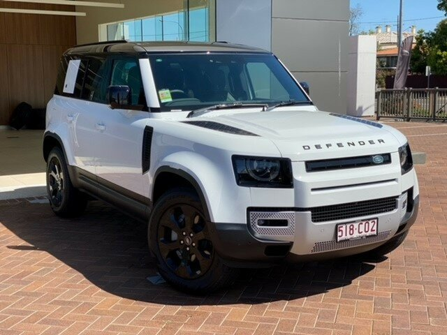 Demo Land Rover Defender L663 21MY 110 P400 AWD SE Toowoomba, 2021 Land Rover Defender L663 21MY 110 P400 AWD SE White 8 Speed Sports Automatic Wagon