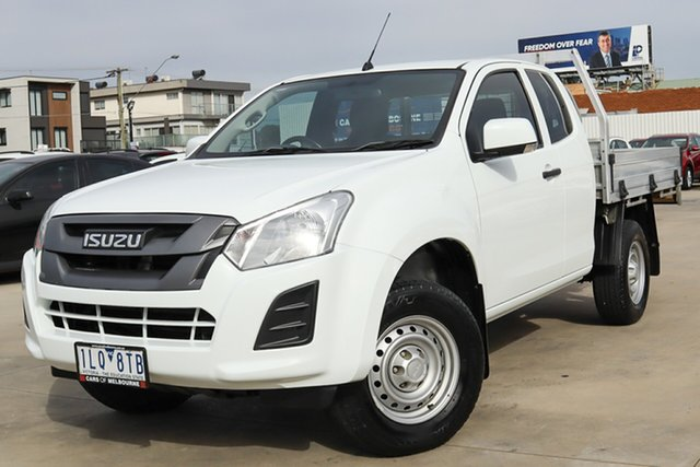 Used Isuzu D-MAX MY17 SX Crew Cab 4x2 High Ride Coburg North, 2017 Isuzu D-MAX MY17 SX Crew Cab 4x2 High Ride White 6 Speed Sports Automatic Cab Chassis