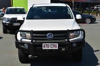 2011 Volkswagen Amarok 2H TDI400 Trendline (4x4) White 6 Speed Manual Dual Cab Utility.