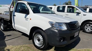 2011 Toyota Hilux TGN16R MY11 Upgrade Workmate White 5 Speed Manual Cab Chassis.