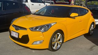 2012 Hyundai Veloster FS Coupe D-CT Yellow 6 Speed Sports Automatic Dual Clutch Hatchback.