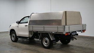 2020 Toyota Hilux GUN126R SR White 6 Speed Sports Automatic Cab Chassis.