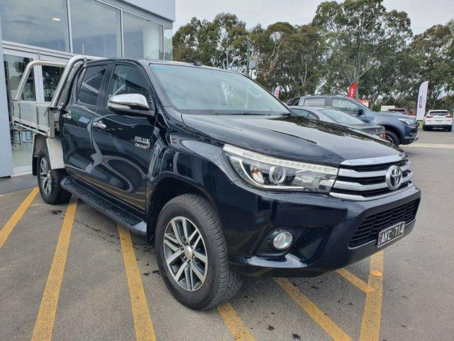 Used Toyota Hilux GUN126R SR5 Double Cab Epsom, 2015 Toyota Hilux GUN126R SR5 Double Cab Black 6 Speed Sports Automatic Utility