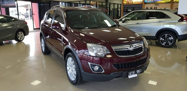 Pre-Owned Holden Captiva CG Series II MY12 5 AWD Wonthaggi, 2013 Holden Captiva CG Series II MY12 5 AWD Maroon 6 Speed Sports Automatic Wagon
