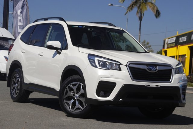 Used Subaru Forester S5 MY19 2.5i CVT AWD Rocklea, 2018 Subaru Forester S5 MY19 2.5i CVT AWD Crystal White Pearl 7 Speed Constant Variable Wagon