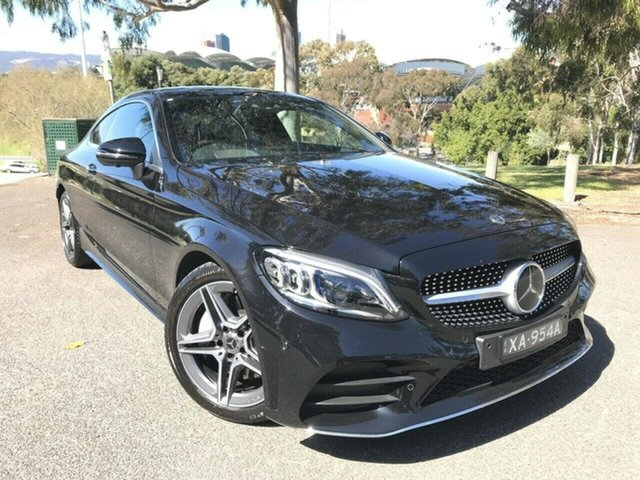 Used Mercedes-Benz C-Class C205 808MY C300 9G-Tronic Adelaide, 2018 Mercedes-Benz C-Class C205 808MY C300 9G-Tronic Black 9 Speed Sports Automatic Coupe