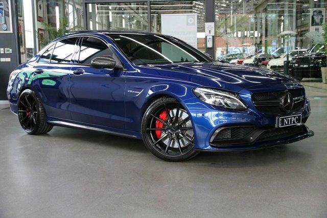 Used Mercedes-Benz C-Class W205 808MY C63 AMG SPEEDSHIFT MCT S North Melbourne, 2017 Mercedes-Benz C-Class W205 808MY C63 AMG SPEEDSHIFT MCT S Blue 7 Speed Sports Automatic Sedan