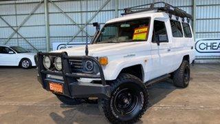 1994 Toyota Landcruiser HZJ75RV Troopcarrier White 5 Speed Manual Hardtop.